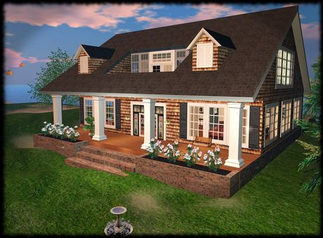 Check Out This Second Life Marketplace Item Prefab Cottages Nantucket Cottage Small House Exteriors