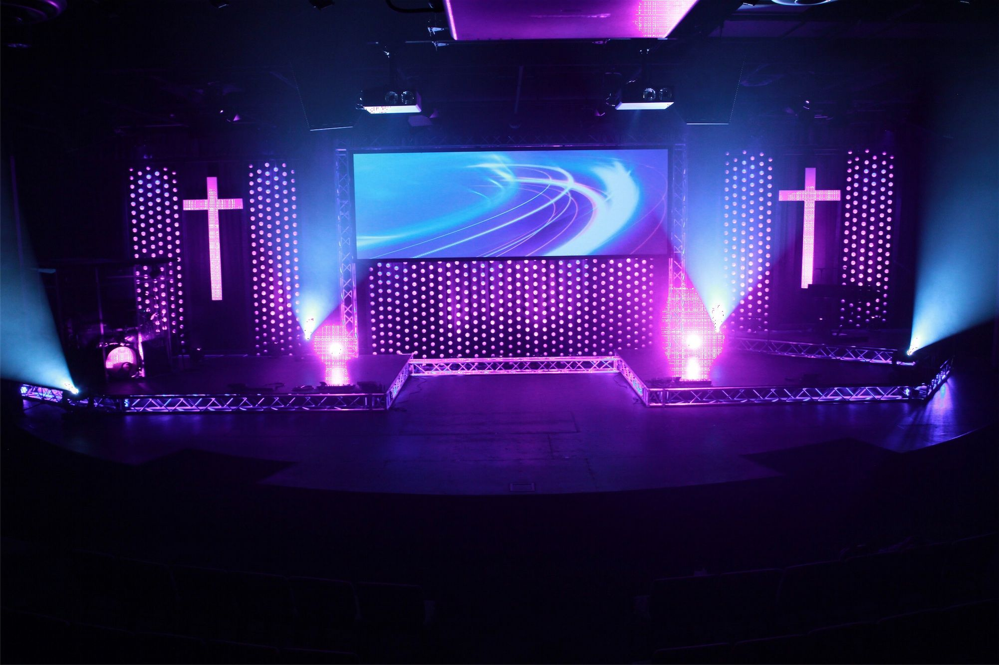 awesome church backdrop more stage design ideas - Church Design Ideas