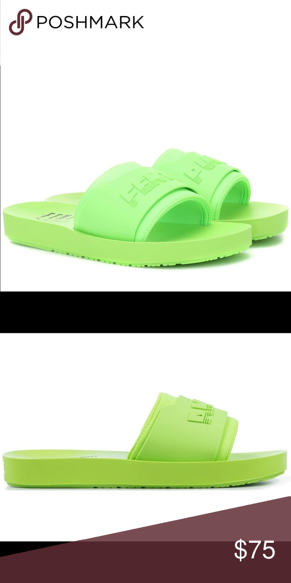 cf11f870f Fenty by Rihanna neon green slides Brand new in box neon green fenty by Rihanna  puma slides Fenty by Rihanna Shoes Sandals