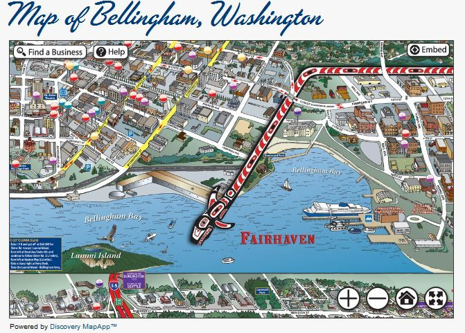 interactive map explore bellingham living in bellingham