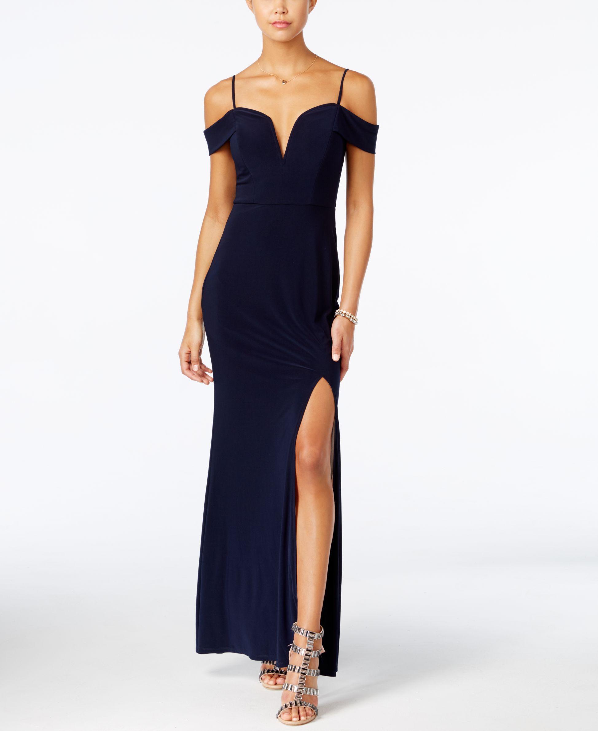 986c0a76cd26 City Studios Juniors  Off-The-Shoulder Maxi Dress