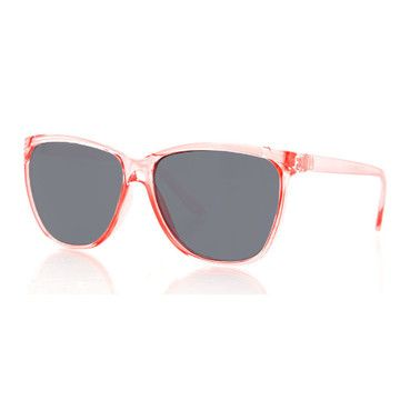 Protect your eyes but keep the rest of your beautiful face in clear view with the Lolla shades. A semi-transparent pink frame makes this necessary accessory glow with style.