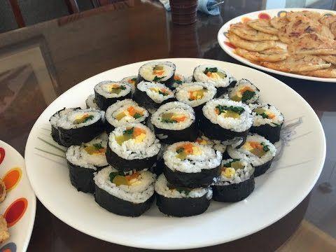 kimbap aka gimbap korean dish recipe youtube asian food forumfinder Gallery