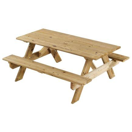 Georgia Vitrified 174 6ft Wood Picnic Table Pt6d Mcq Kd
