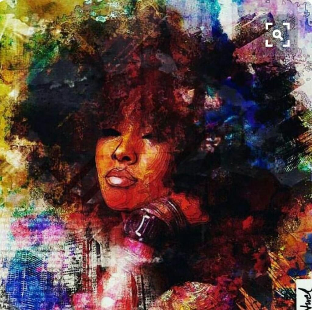 Result Black Woman Afro Painting Art