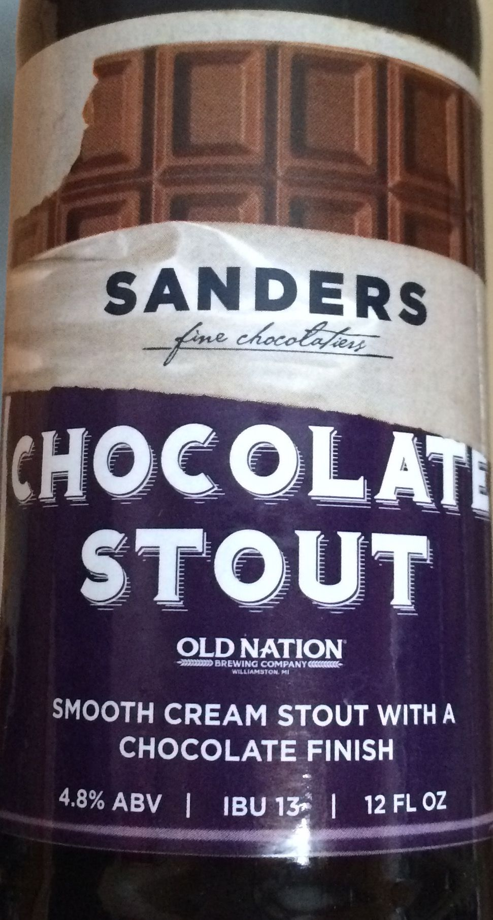Old Nation Brewing - Sanders Chocolate Stout   Craft Beers ...