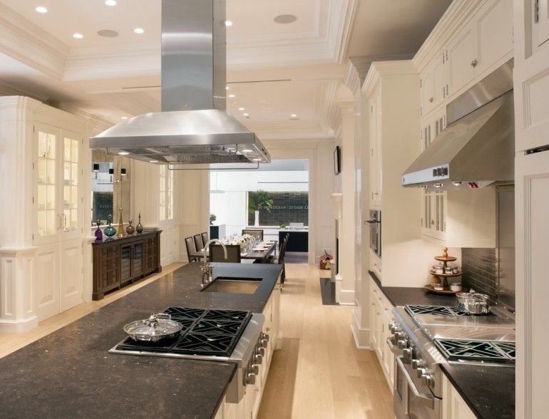 GE Monogram showroom kitchen and island | kitchens | Pinterest