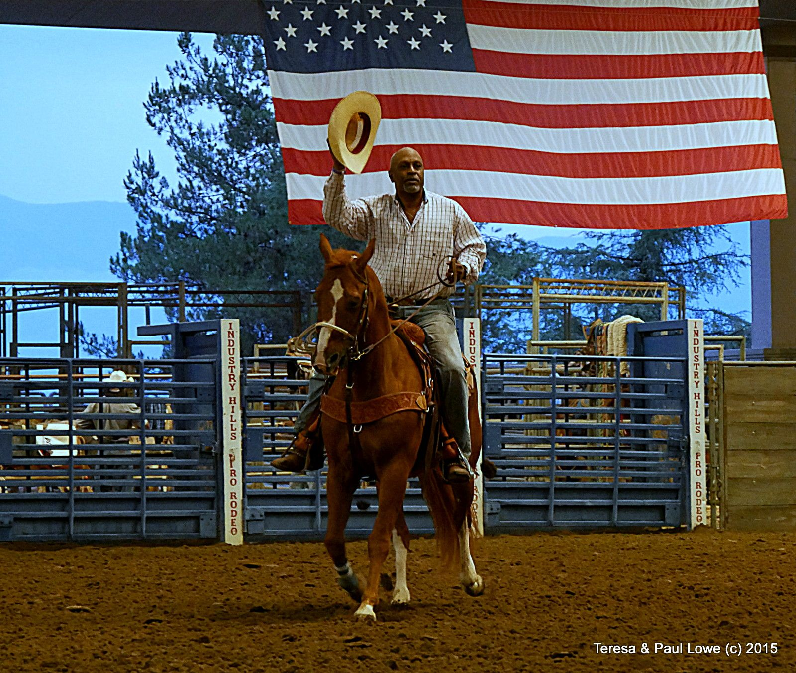 An experienced rider for many years, and african american cowboy, as ...