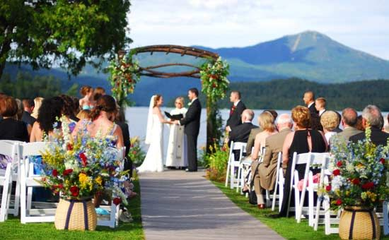 A Wonderful Outdoor Venue For Your Adirondack Destination Wedding Whiteface Club Resort