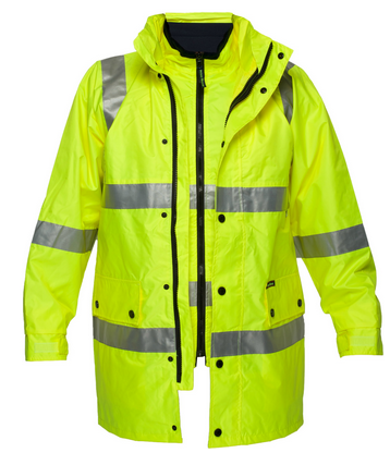 Winter Two Tone Reflective Traffice Hi Vis Workwear Safety Jacket Photo Detailed About Winter Two Tone Reflect Mens Work Outfits Hi Vis Workwear Mens Workwear