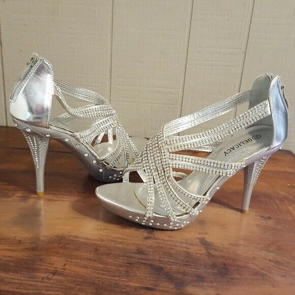 Silver Special Occasion Heels