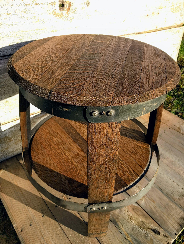 Meuble En Tonneau De Vin bourbon barrel full end table   table de tonneau de vin