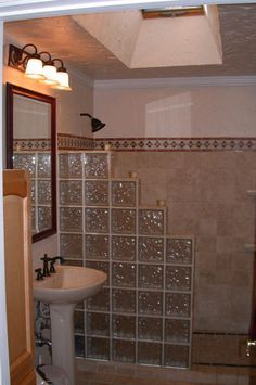 glass blocks in bathroom wall google search - Bathroom Designs Using Glass Blocks