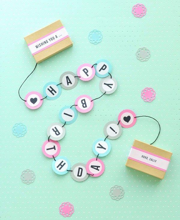 Diy birthday card idea Mini birthday cardbanner in a box diy – Diy Birthday Card Ideas