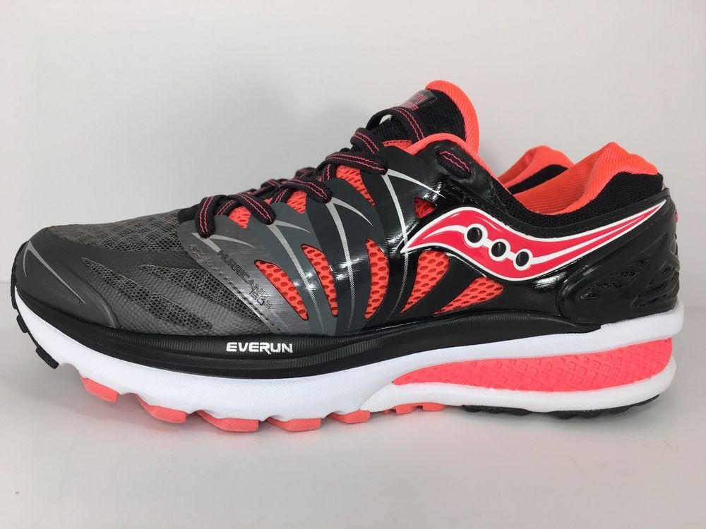 Saucony Womens Hurricane ISO 2 Shoes S10293 2 Black Charcoal Coral Size 8
