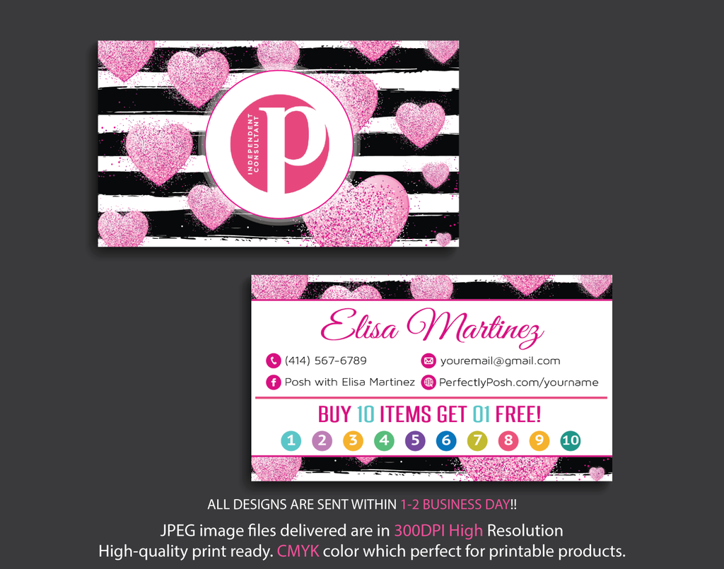 Personalized Perfectly Posh Punch Cards