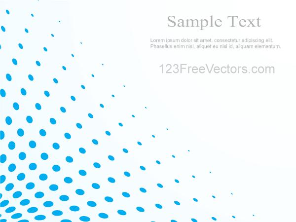 Blue Halftone Dot Pattern Background Vector Illustrator Vector