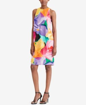 Lauren Ralph Lauren Petite Printed Shift Dress - Multi 10P