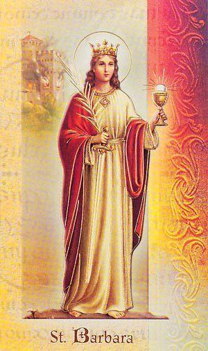 St Barbara Biography Pamphlet Saint Barbara Catholic Saints Patron Saints
