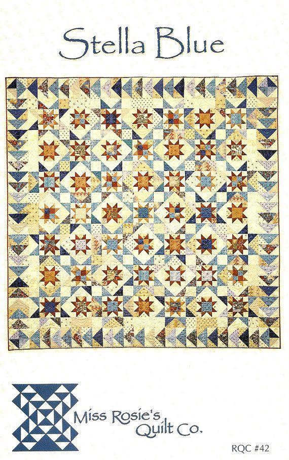 Stella Blue Quilt Pattern from Miss Rosie's Quilt Co   Blue quilts ... : miss rosie quilt - Adamdwight.com