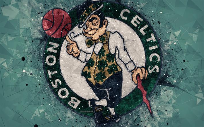 Download wallpapers Boston Celtics, 4K, creative logo