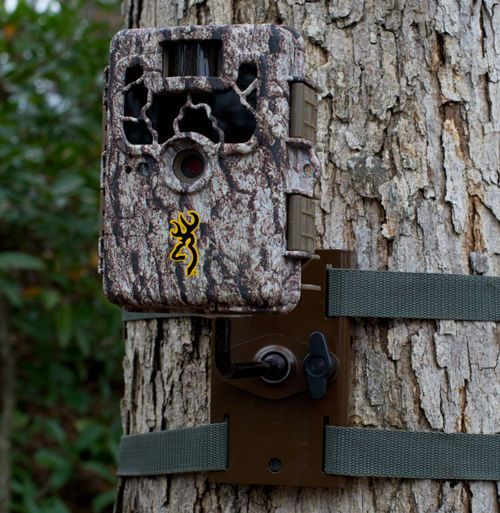 Steel Trail Camera Tree Mount Security Box Camo Strap Metal Buckle Weather Proof Trail Camera Home Security Systems Camera