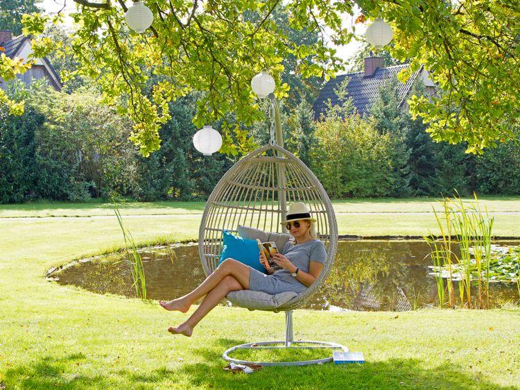 Lounge Gartenmöbel Hängesessel wetterfest Baumschatten #terrace ...