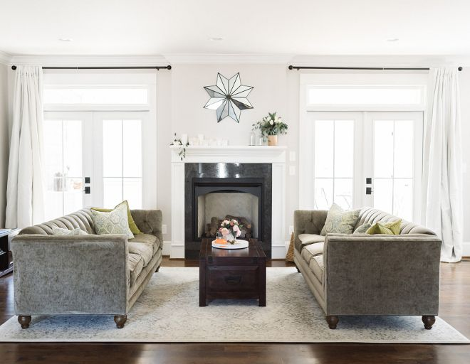 I Like The French Doors Flanking The Fireplace I Think The Scale Of The Fireplace Is A L Living Room Furniture Layout Livingroom Layout French Doors Interior #small #living #room #with #sliding #glass #door #arrangement