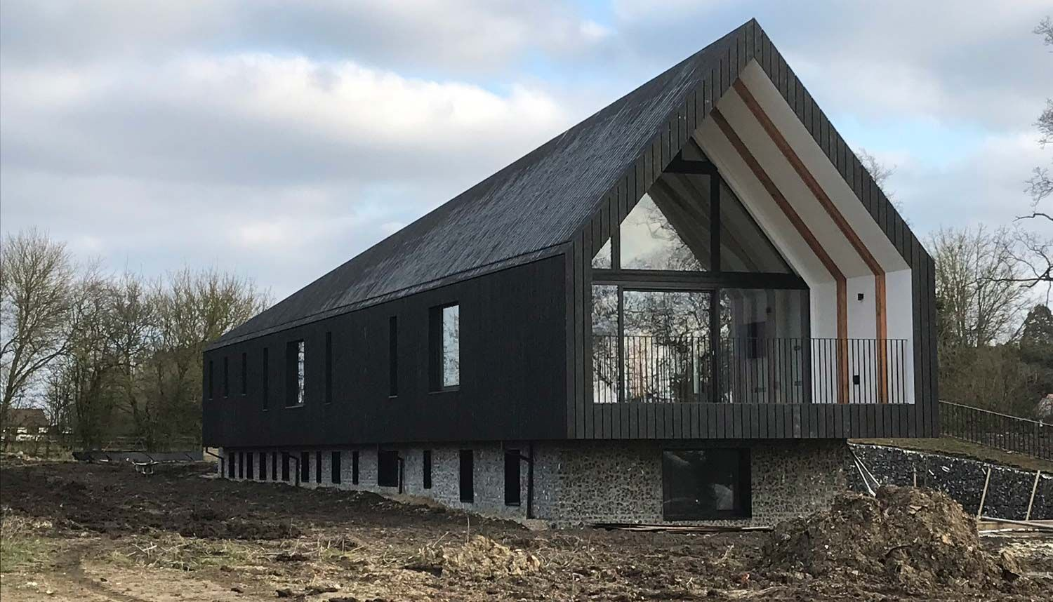 Black Barn in Suffolk with Internorm Triple-Glazing [2016742 ...