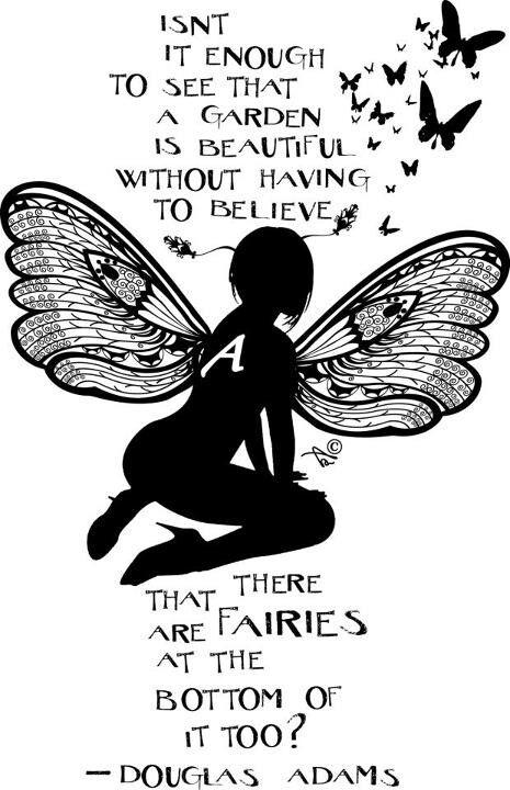 Douglas Adams Fairies At The Bottom Of The Garden Quote