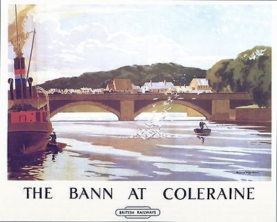 Vintage LMS Portstewart Northern Ireland Railway Poster A3//A2//A1 Print
