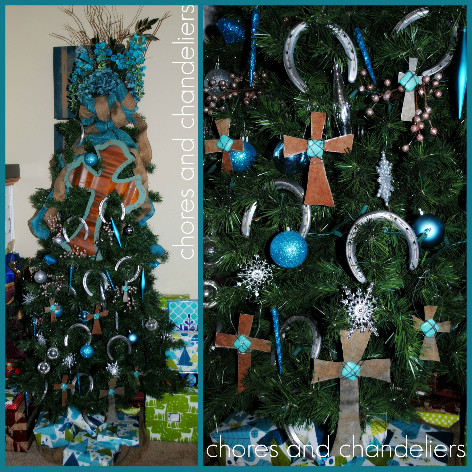 Rustic, cross and turquoise CHRISTMAS!!!! Keep Christ in Christmas
