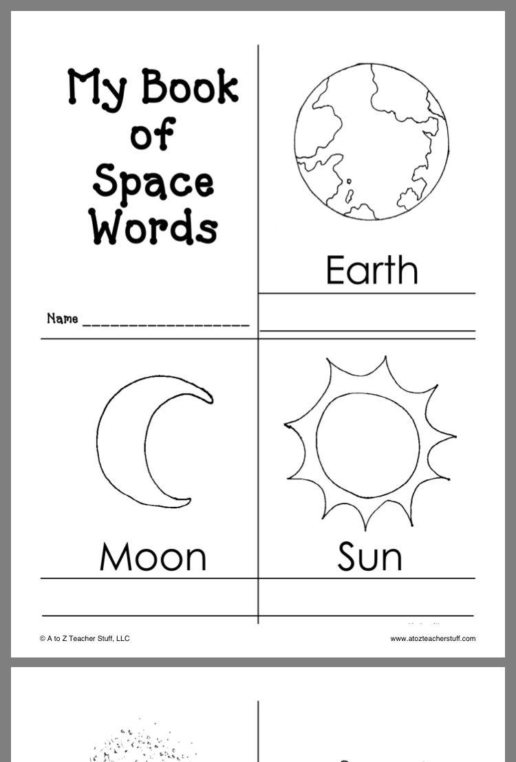 Pin By Lisa Ana Almeida On Emergent Readers Space Preschool Space Activities For Kids Space Theme Preschool