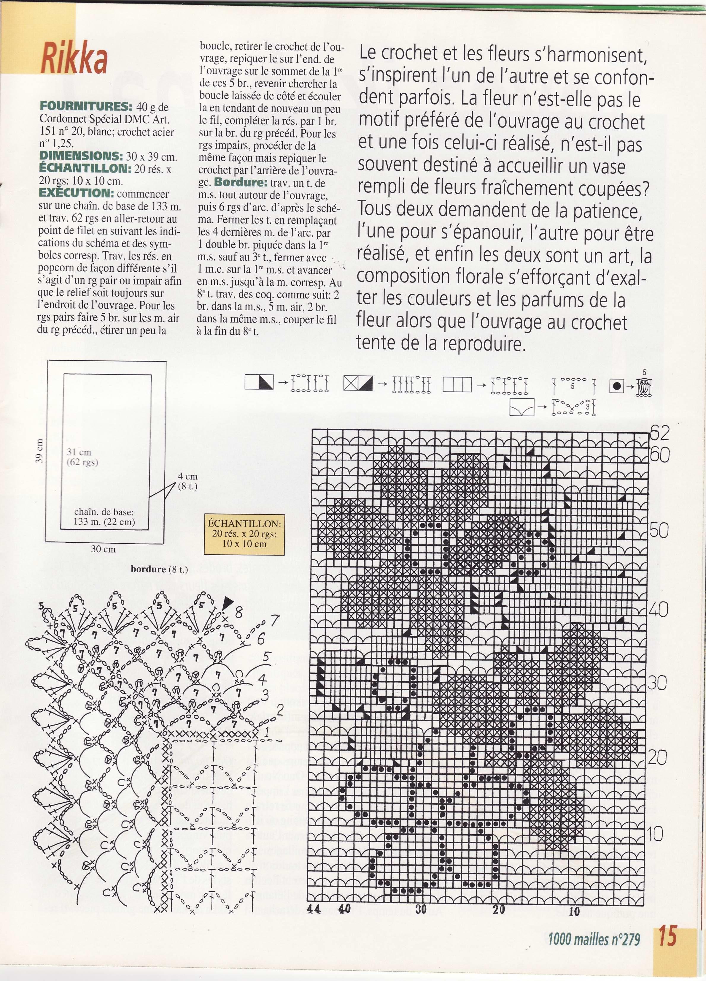 Tischläufer häkeln - crochet tablerunner   filet   Pinterest ...