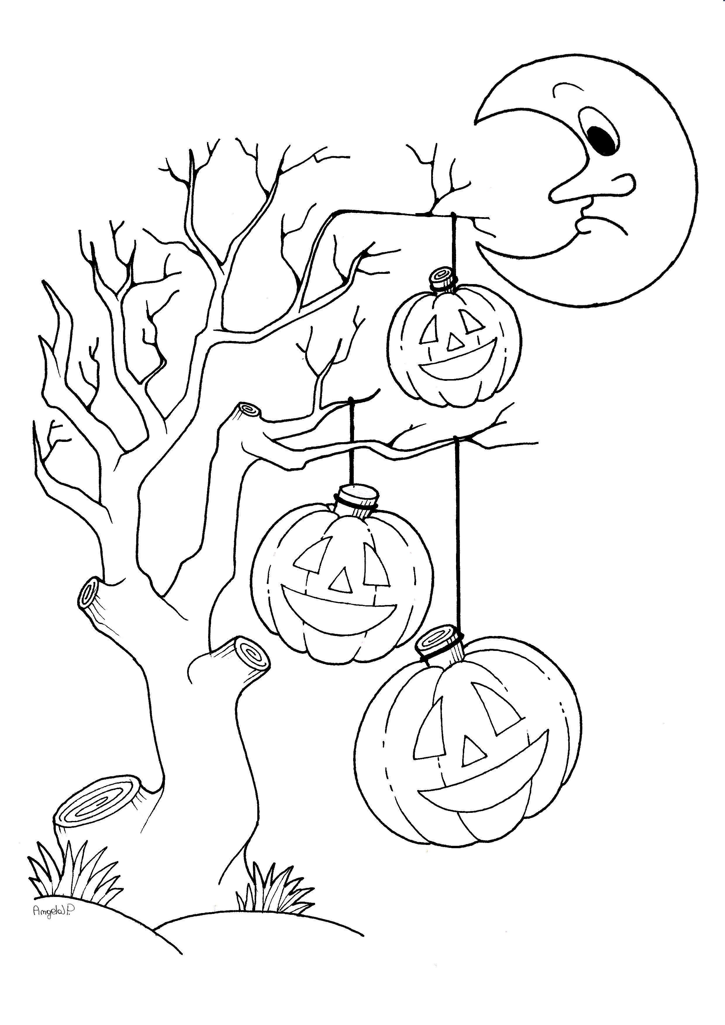 Halloween Disegni Gratis Da Stampare E Colorare Immagini Da