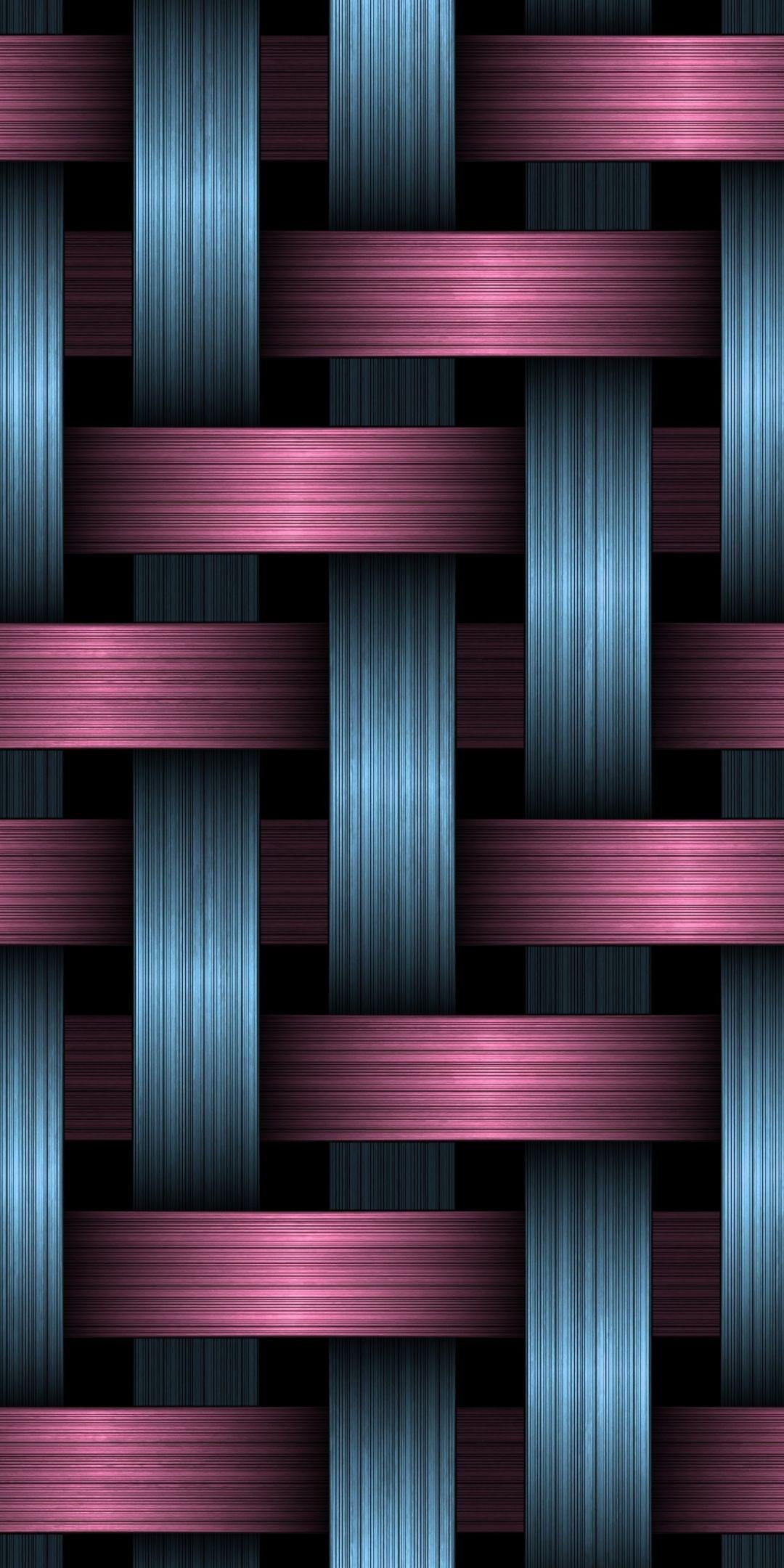 Purple-pink stripes, overlap, pattern, 1080x2160 wallpaper