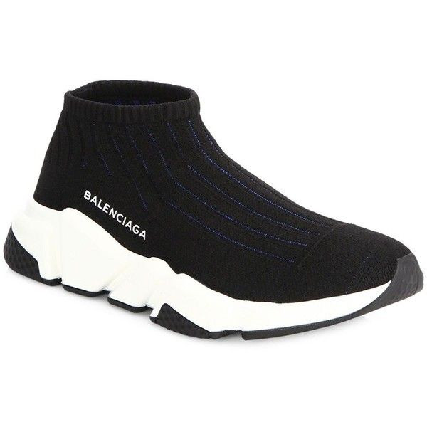 Balenciaga Speed Round Toe Low Top Sneakers ($595) ❤ liked