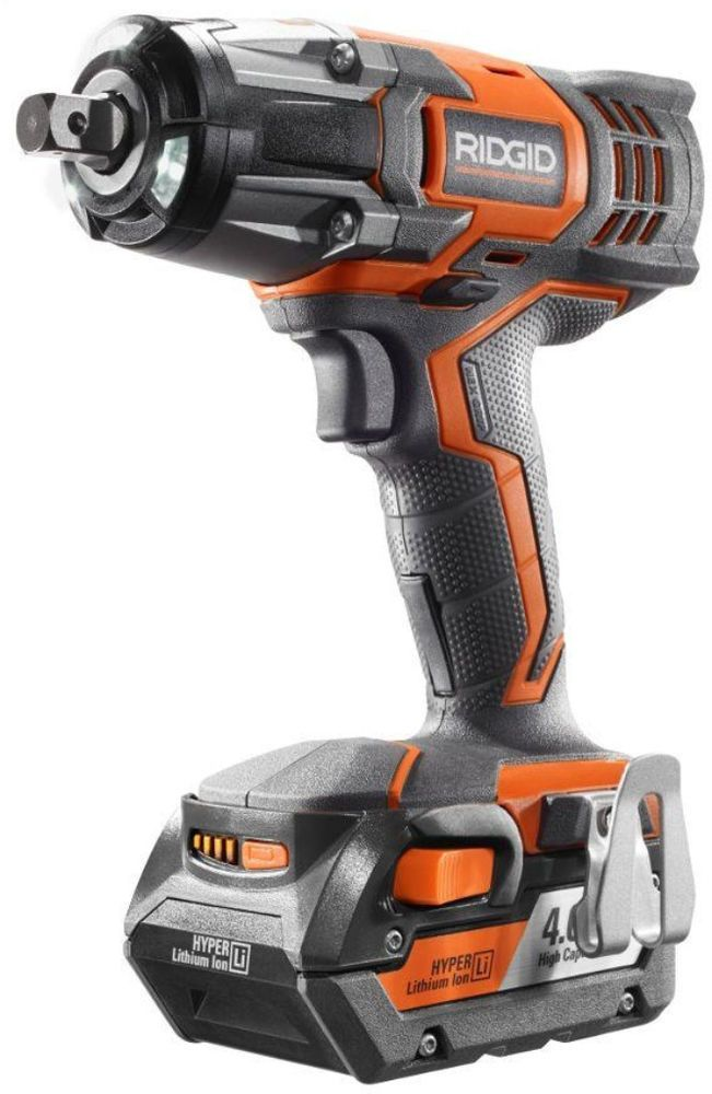 Ridgid 18 Volt 1 2 In Impact Cordless Combo Wrench Kit With Batteries