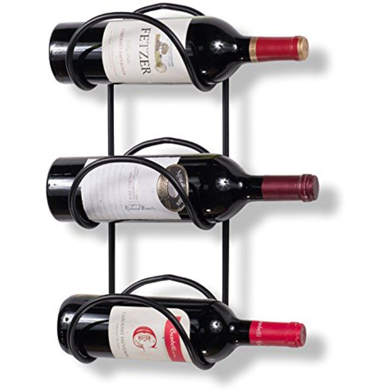 wallniture wrought iron wine rack 3