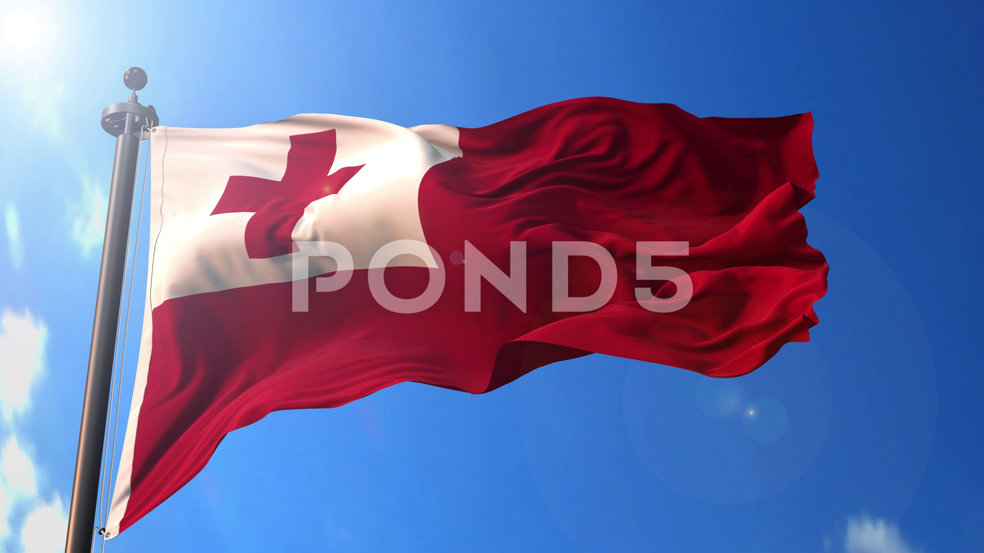 Norway animated flag pack in 3D and green screen Stock