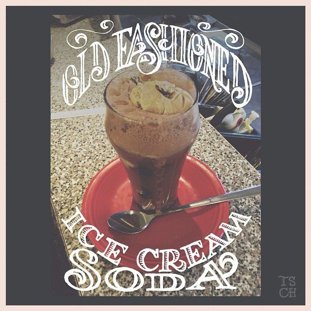Old Fashioned Ice Cream Soda __ Hand Lettering by [ts]Christer
