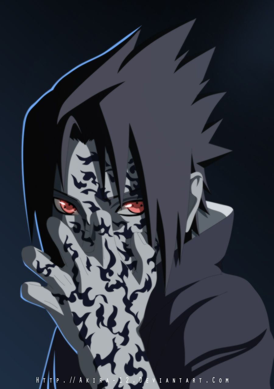 sasuke curse mark by akira 12 deviantart com on deviantart