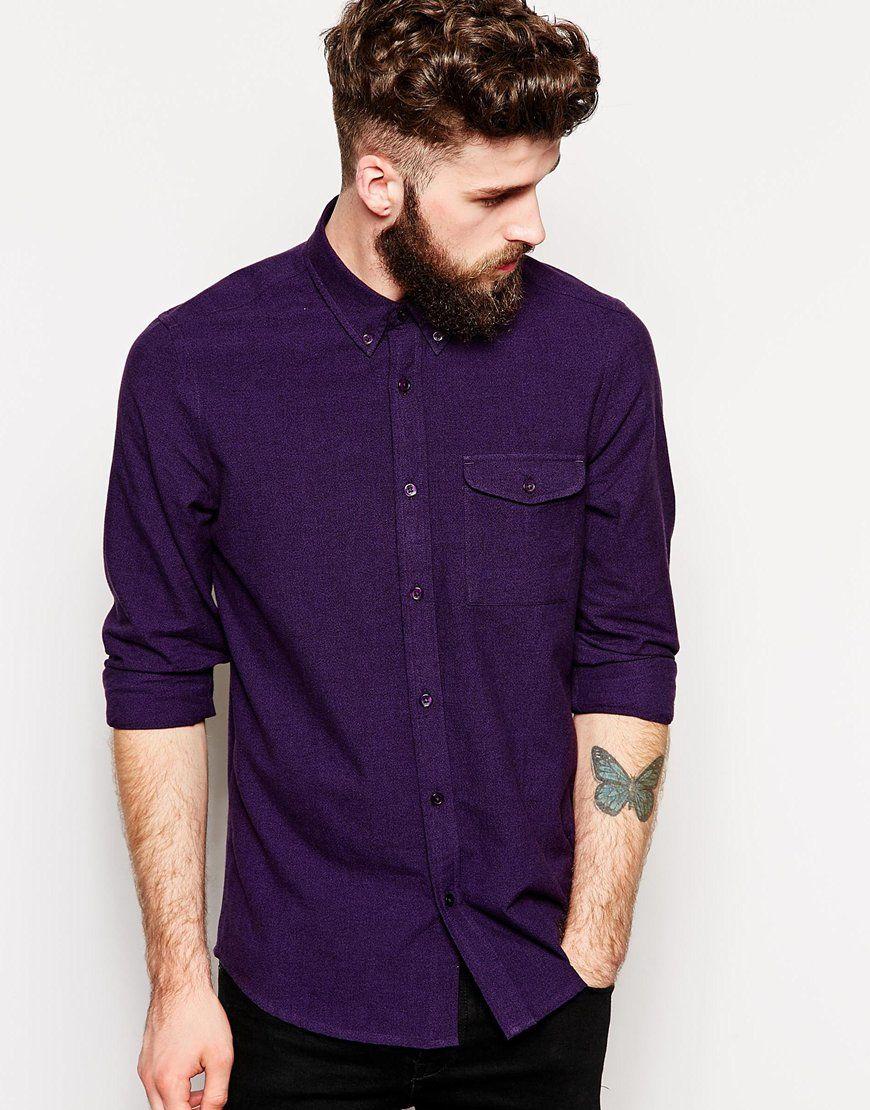 ASOS+Shirt+In+Long+Sleeve+With+Twist+Yarn