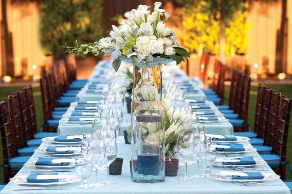 Long Table Decorations Ideas wedding trends strictly long tables belle the magazine Gorgeous Table Dcor