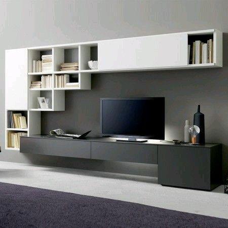 Wohnwände - Moderne Modelle und flexible Systeme Tv paneel - schlafzimmerschrank mit fernsehfach