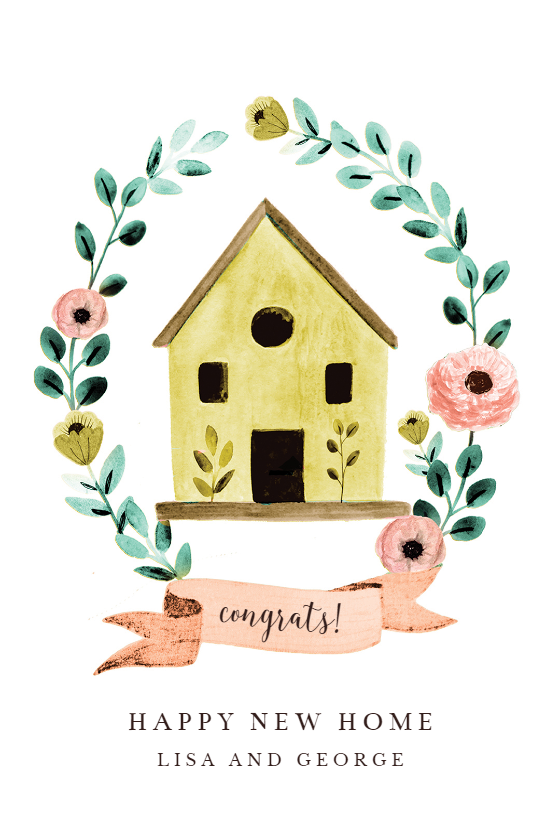 Bird House Congratulations Card Free Greetings Island Free Greeting Cards Christmas Cards Free Birthday Cards To Print