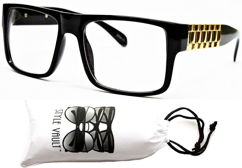 c6b04a4d305 W213-vp Plastic Wayfarer Clear Lens Glasses Eyeglasses - Bn Black Gold -  CW11RTTIN1F - Women s Sunglasses