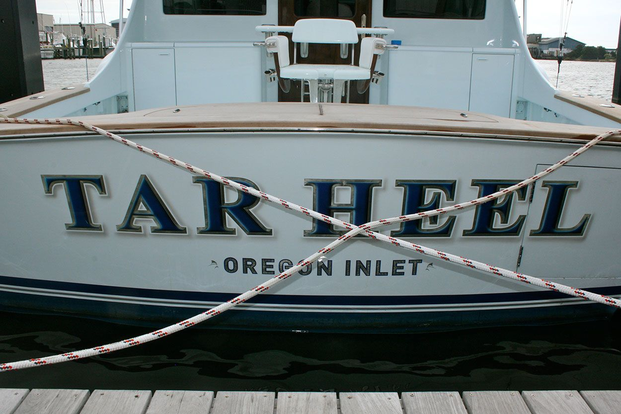 #TRANSOM: Tarheel, Oregon Inlet #Boat #Transom #BoatTransom  TRANSOM #TECHNIQUE: #CustomBoatLettering    #BOAT #BUILDER #BoatBuilder: #ScarboroughBoatworks, #Wanchese, #NorthCarolina