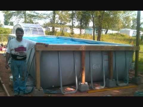 Intex Rectangular Pool With Deck Wmv Diy Swimming Pool