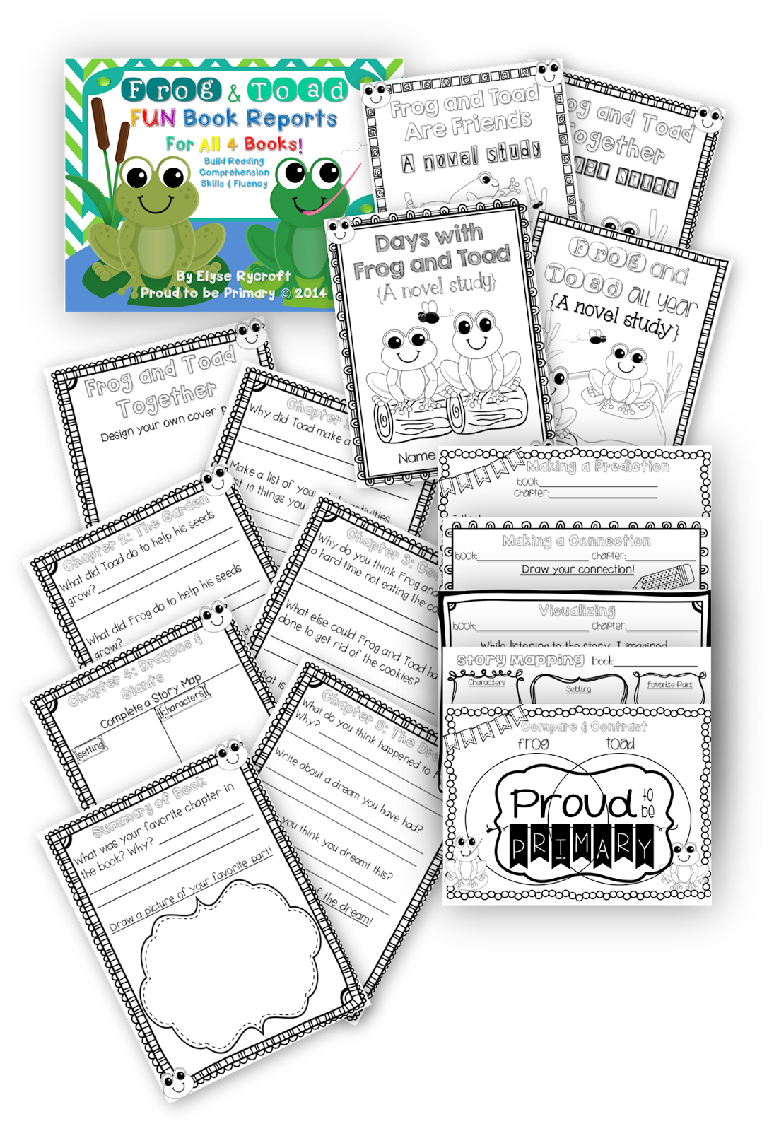 Frog Amp Toad Book Reports For All 4 Books Activities To